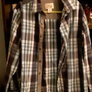 Mens long sleeve button up shirt